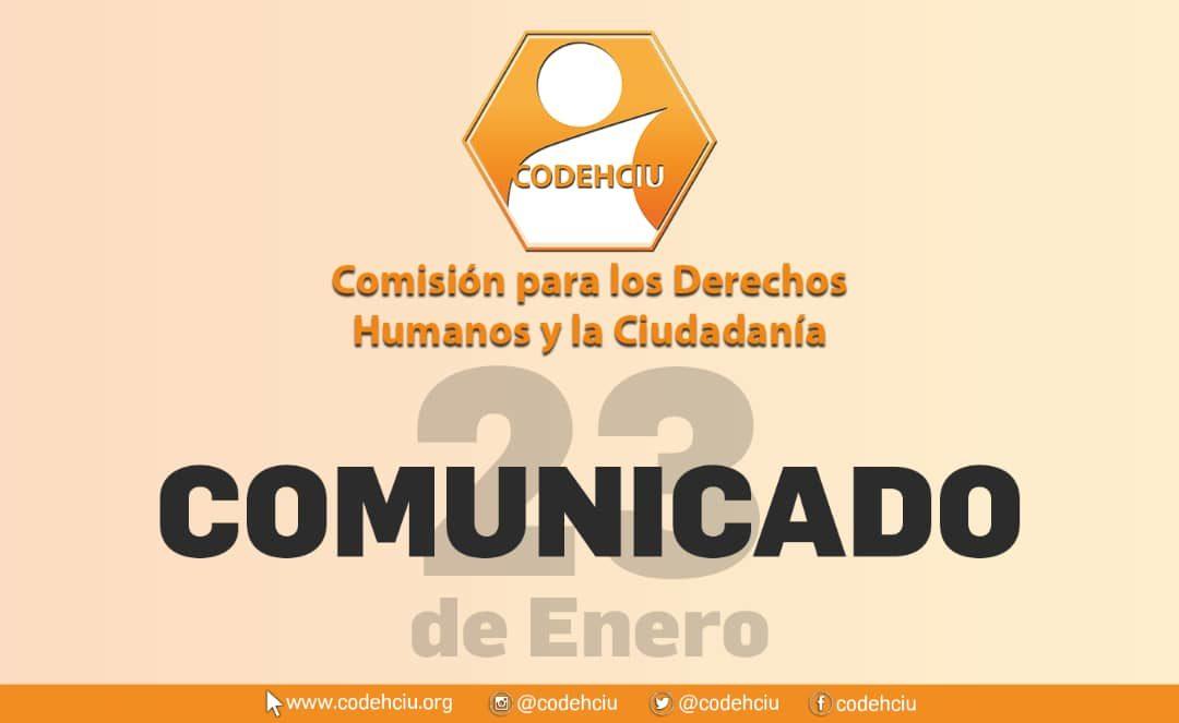 23 de enero: Comunicado de la Comisión para los Derechos Humanos y la Ciudadanía