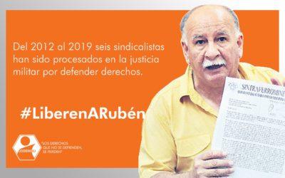 Codehciu y otras organizaciones rechazan condena por justicia militar hacia líder sindicalista Rubén González